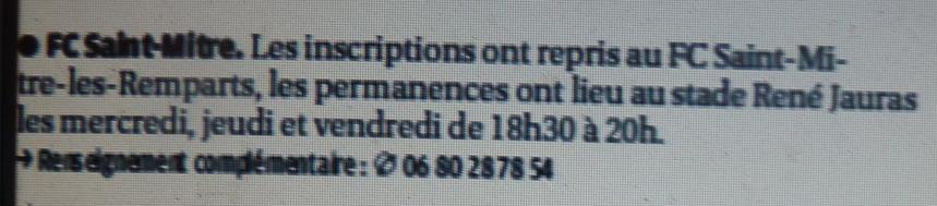 FC Saint-Mitre  LES REMPARTS :: PHB  65009610