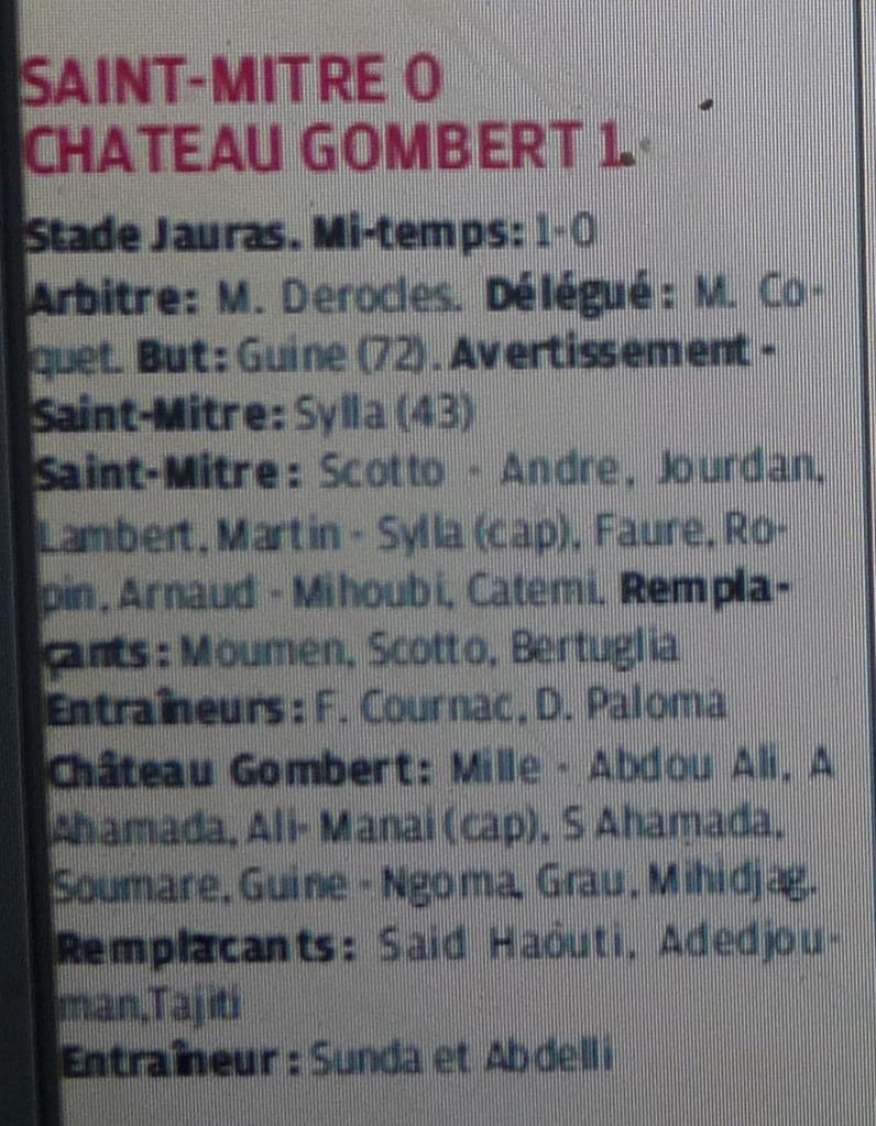 ETOILE SPORTIVE GOMBERTOISE /CHATEAU et CAG club athletique gombertois /PHA PROVENCE  - Page 2 Copie150