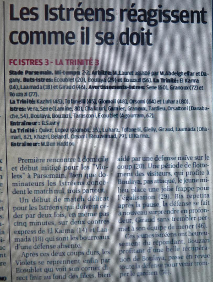 FC ISTRES B  // DHR  MEDITERRANEE  et AUTRES JEUNES  - Page 3 P1220614