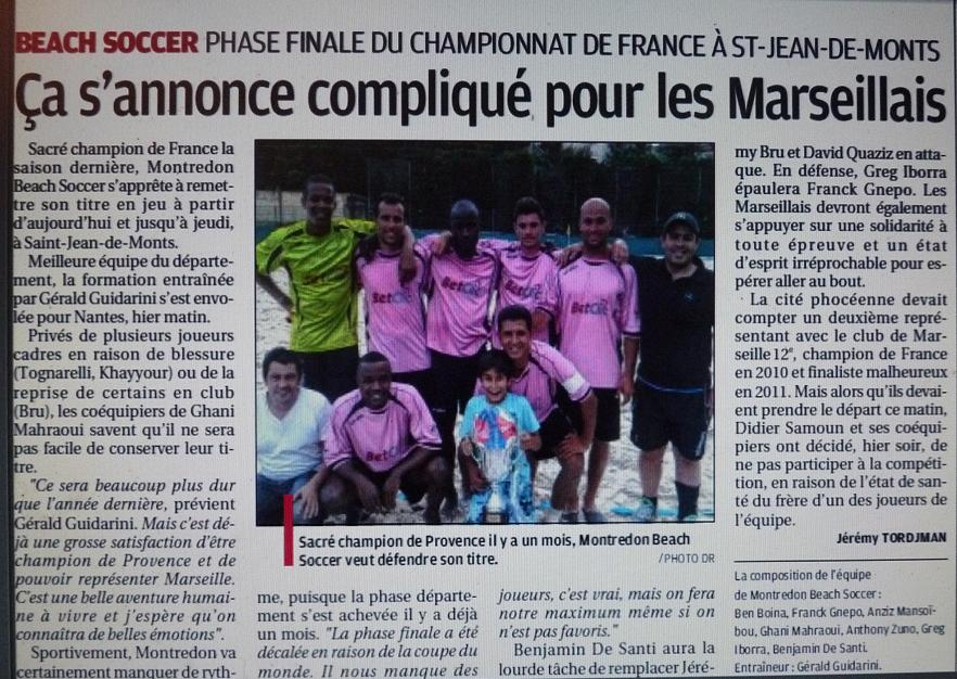 BEACH SOCCER A MARSEILLE /  MARSEILLE 12 EME MONTREDON ... Photo817