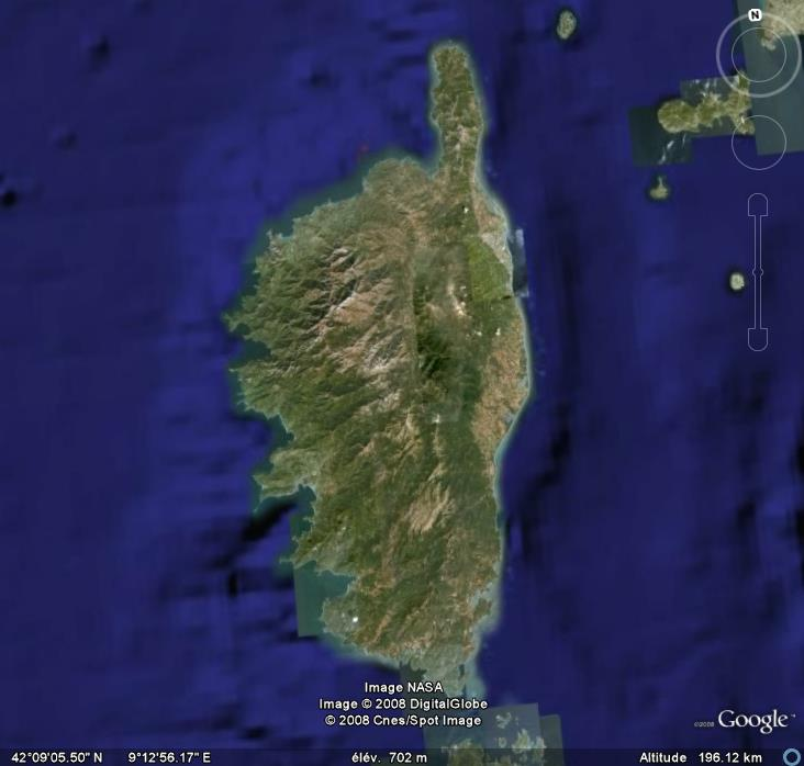 La France par ses timbres sous Google Earth Corse11