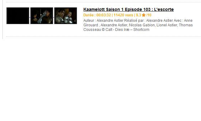 Kaamelott et Dailymotion K10310