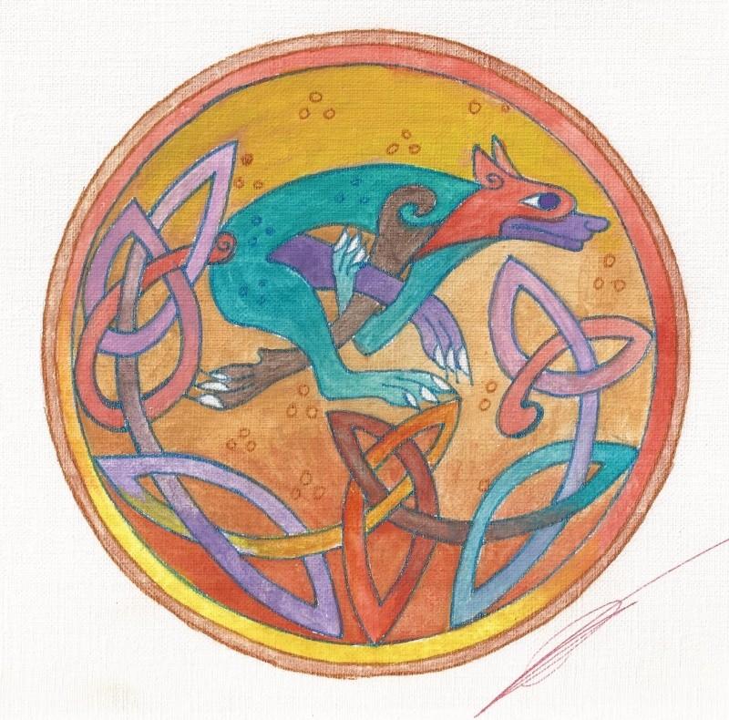 J'aime les entrelacs et autres dessins celtiques - Page 15 Chien_10