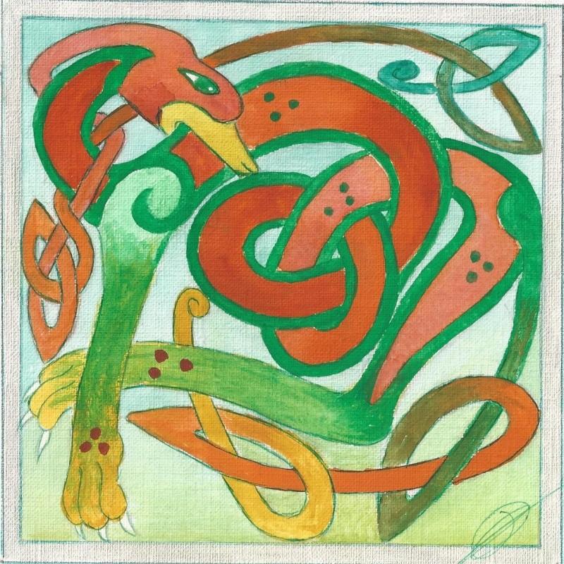 J'aime les entrelacs et autres dessins celtiques - Page 16 Chien_11