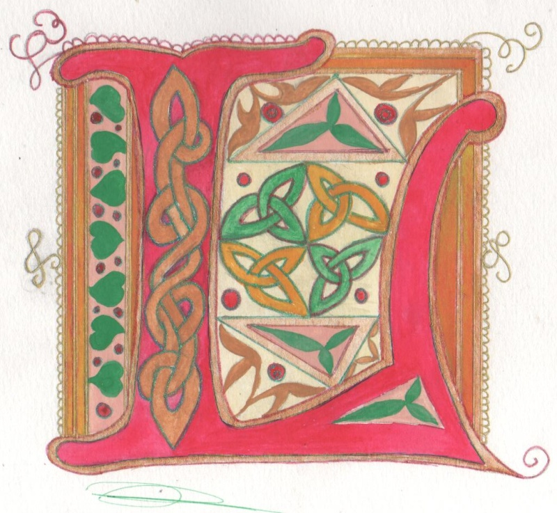 J'aime les entrelacs et autres dessins celtiques - Page 14 Lettre10