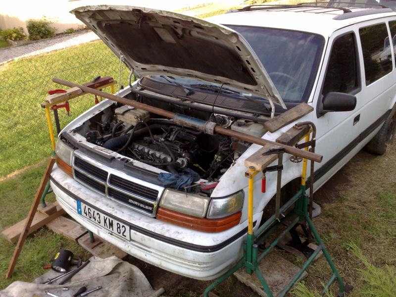 Soutenir le moteur pour changer les supports Barre_11