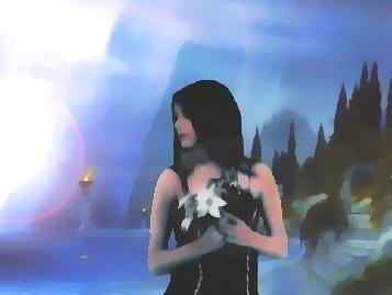 La femme au grand châle noir Marwen10