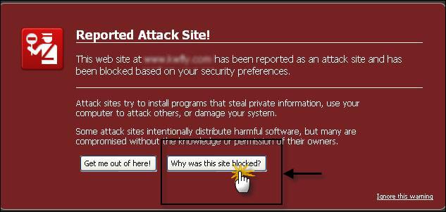(تحذير: إن زيارة هذا الموقع قد تلحق الضرر بالكمبيوتر!) - سبب ظهور التنبيه و كيفية معالجة المشكل. 29-05-10