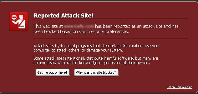 (تحذير: إن زيارة هذا الموقع قد تلحق الضرر بالكمبيوتر!) - سبب ظهور التنبيه و كيفية معالجة المشكل. Q8sms_10