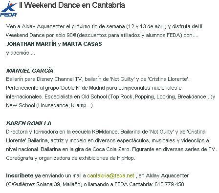 II WEEKEND DANCE EN CANTABRIA Dance_12