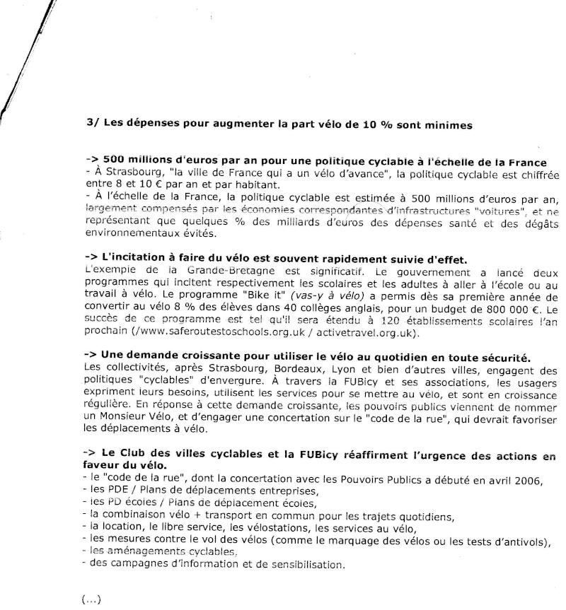 SANTE & VELO DOSSIER D'INFORMATIONS SYNTHETIQUES  -FUBicy- Docum125