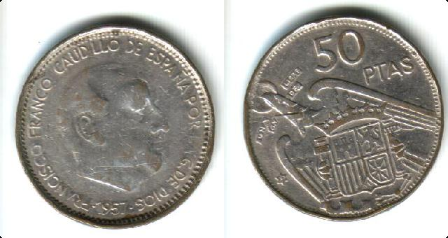 50 pesetas - 50 Pesetas de Franco (Madrid, 1957)  falsa de época. Save0038