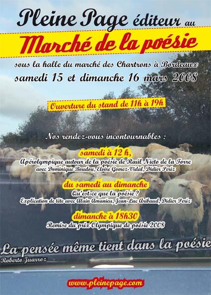 S 15 & D 16 mars LE PRINTEMPS DES POETES Pintem10