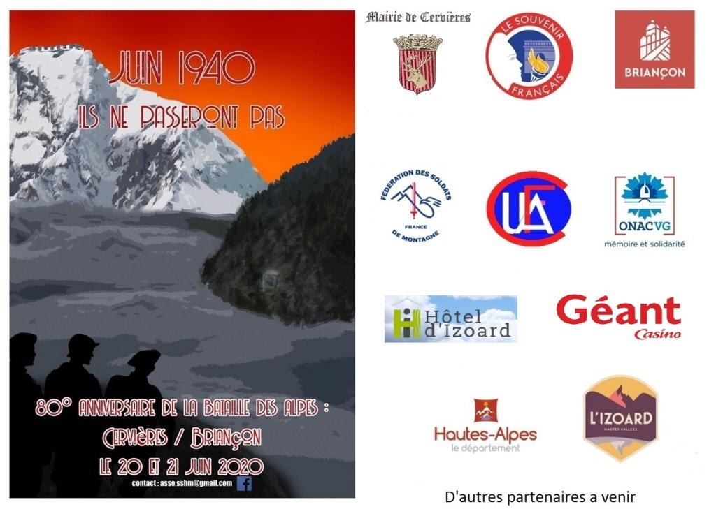 Souvenir Sauvegarde et Histoire Militaire du Briançonnais et 80 ans de la bataille des Alpes Affich10