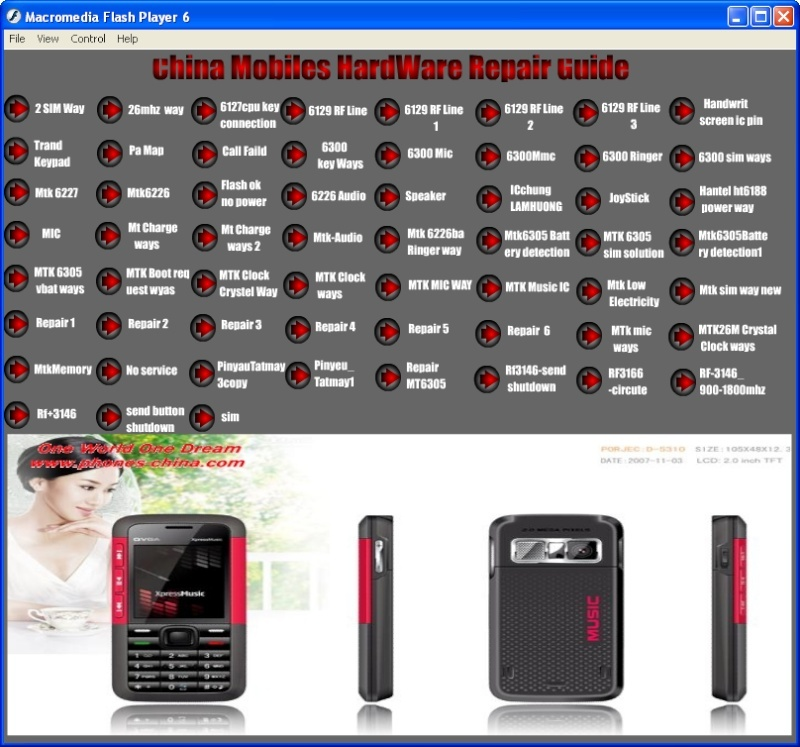 China Mobiles HardWare Repair Guide  by pic........ 2008-010