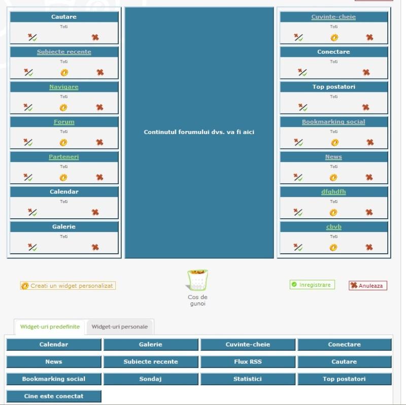 + Module in indexul forumului + admin. in mod drag & drop Forum10