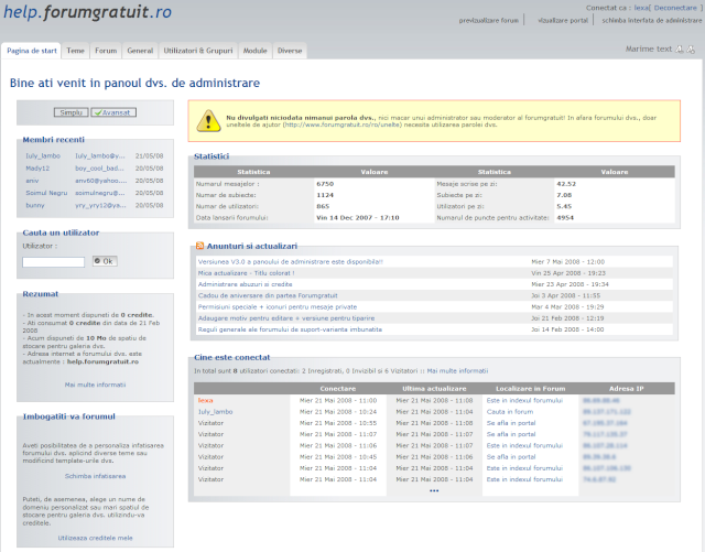 Versiunea V3.0 a panoului de administrare este disponibila!! Pa_ver11