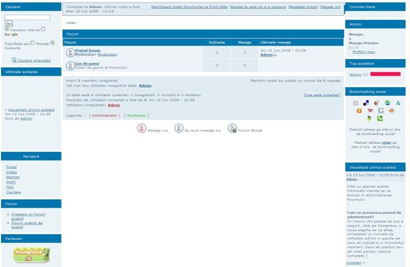 + Module in indexul forumului + admin. in mod drag & drop Widget10