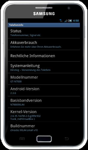 [ROM 2.3.6/XXLC1]  [30.03.12] Chrack´s V18 XXLC1 Multi - FF Beta- Jkay Mod [539MB / 328MB / 224MB] Galaxy10
