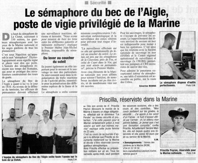 SÉMAPHORE - BEC DE L'AIGLE (BOUCHES DU RHÔNE) Articl11