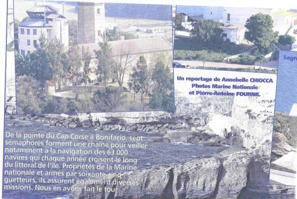 [ Les sémaphores - divers ] Les sémaphores en Corse vus par Corse Matin Sentin13