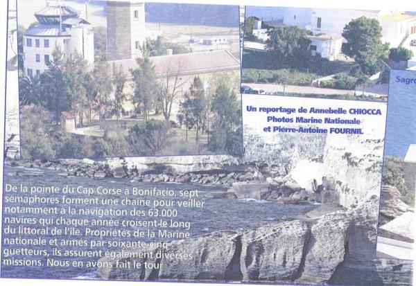 [ Les sémaphores - divers ] Les sémaphores en Corse vus par Corse Matin Sentin14