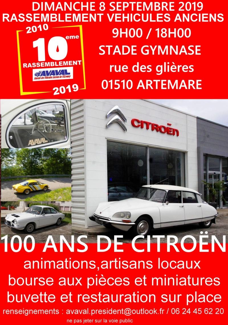 [01] 8/09/201 10ème rassemblement d'Artemare  Affich11