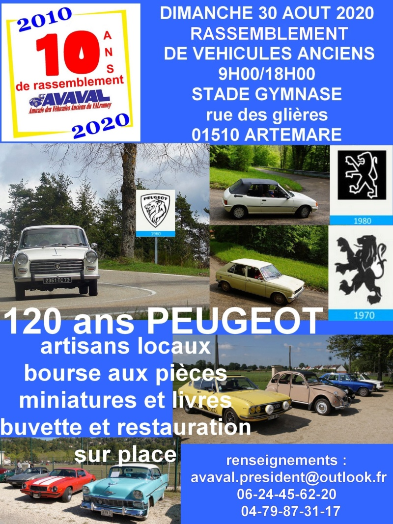 [01]30/08/20 rassemblement de véhicules anciens d'Artemare Affich15