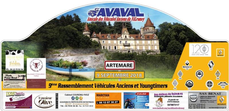 [01] 9/09/2018 9ème rassemblement d'Artemare 120 ans Renault Plaque11