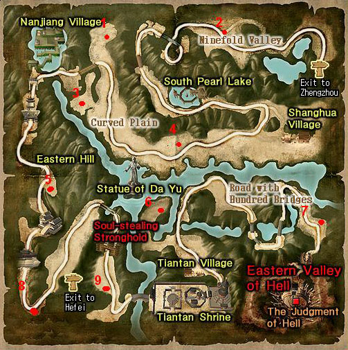 Lugares donde puedes encontrar los BOSS Jinanb10