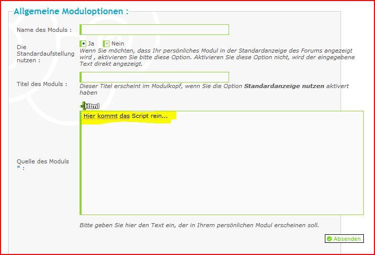 Module basteln (Freunde Modul) Aufze376