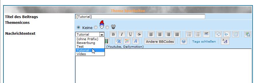 [alle Versionen] Präfix einstellen Pr10