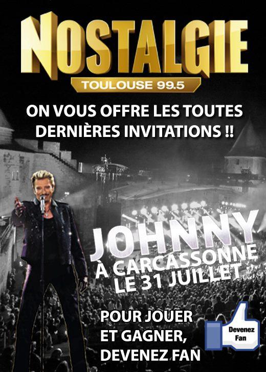 Qui veut gagner ses invitations pour Johnny 31 juillet au Festival Carcassonne? Nostal10