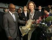 Le président Martelly reçoit la reine d'Espagne Preval10