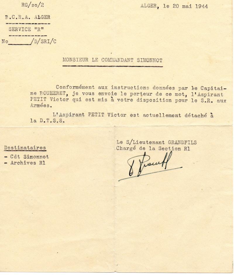 PETIT Victor - brevet n°893 à FEZ (Maroc) Représenté par son fils Denis Bcra110