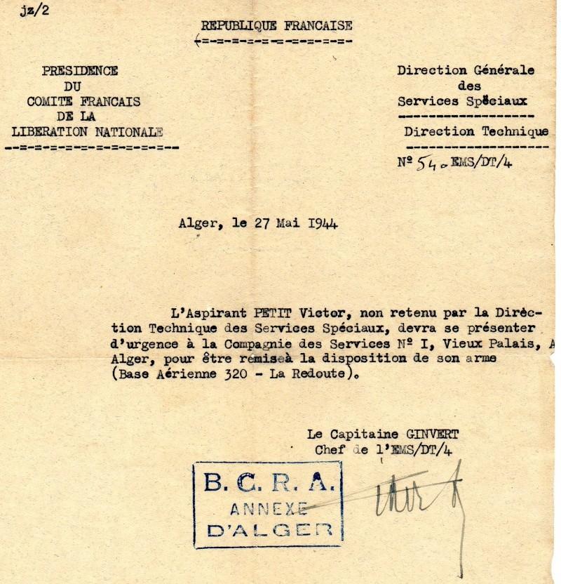 PETIT Victor - brevet n°893 à FEZ (Maroc) Représenté par son fils Denis Bcra310
