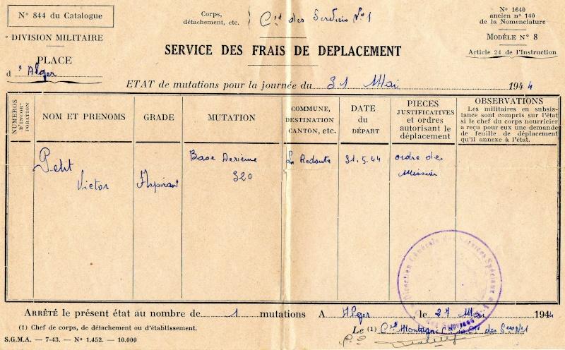PETIT Victor - brevet n°893 à FEZ (Maroc) Représenté par son fils Denis Bcra411