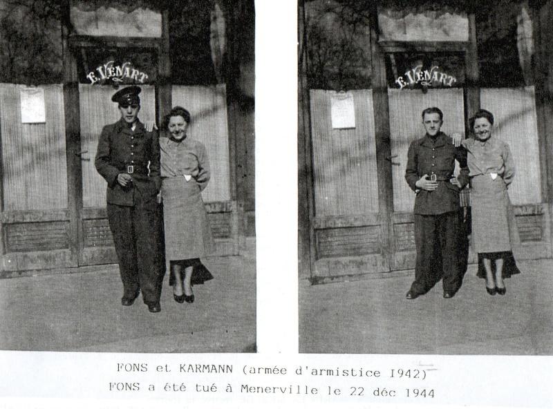 Lucien KARMANN brevet n°623 ancien du 1er RCP est décédé Fons_e10