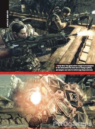 Сканы Gears of War 2 из нового номера EGM 1010