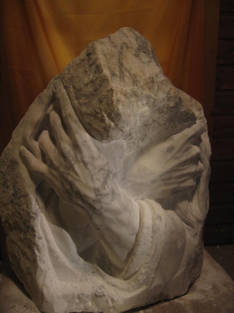 Mains en marbre de carrare A1110