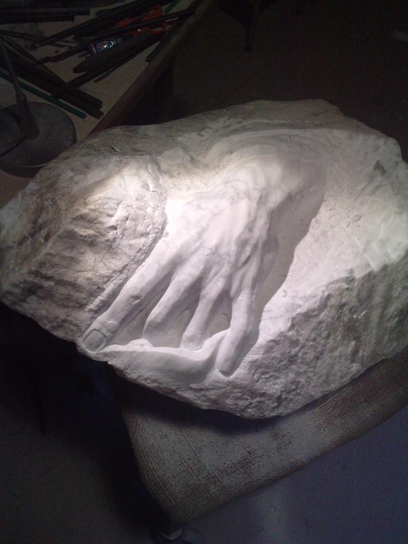 Mains en marbre de carrare A711
