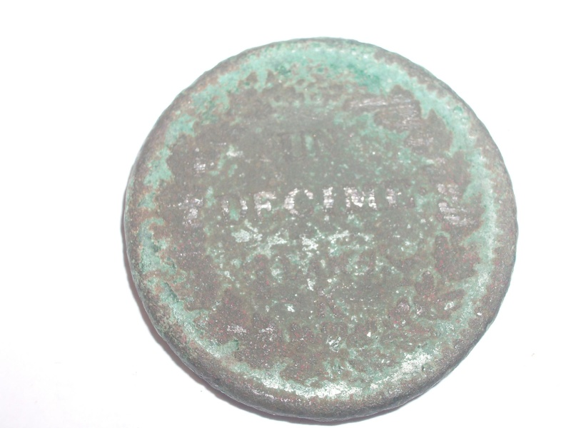 Francia, 1 dècime, 1795-1799. Revers10