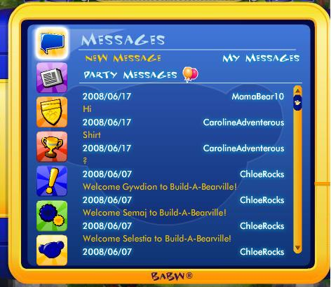 PDA Update - Party Messages Party11