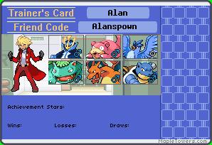 Trainer's card de los miembros del equipo Alansp10