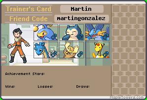 Trainer's card de los miembros del equipo Martin10