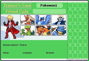 Trainer's card de los miembros del equipo Pokemo10