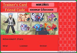 Trainer's card de los miembros del equipo Xxxmar10