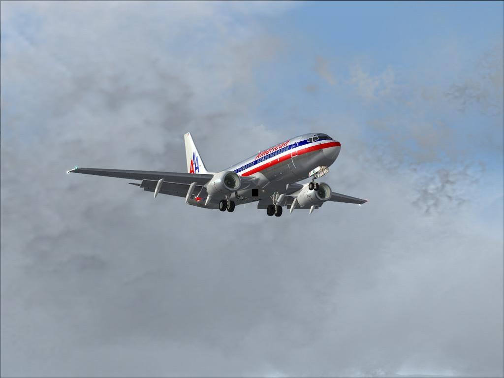 [FS9] Pouso em KSFO com AA 737-700 PMDG Americ10