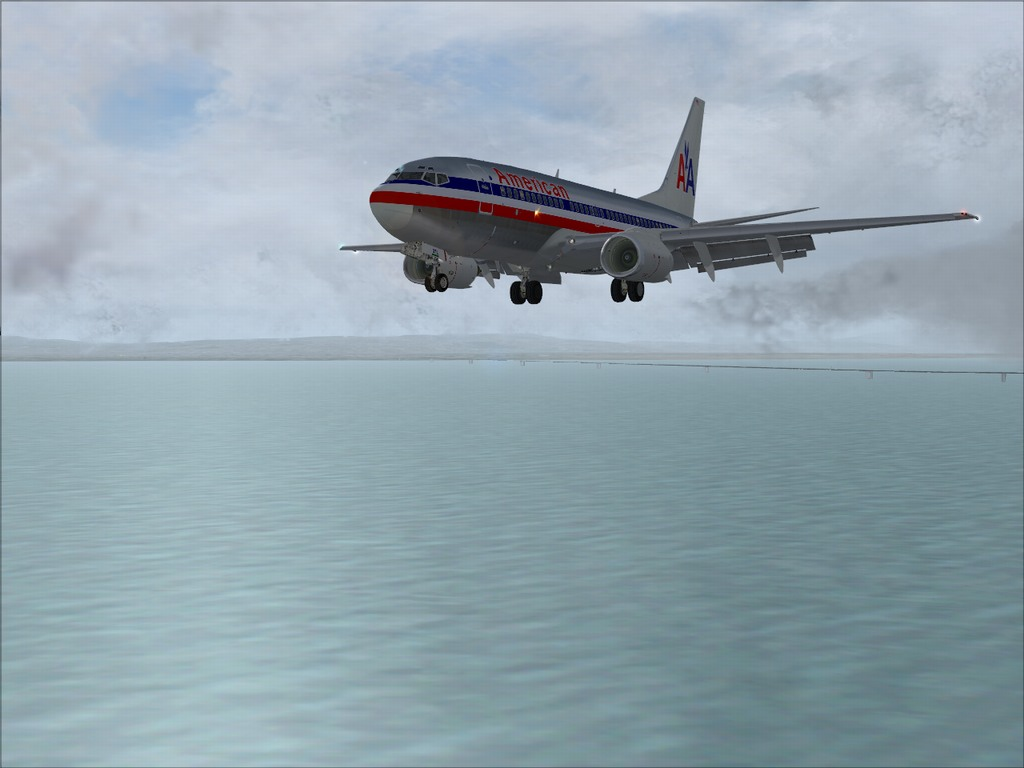 [FS9] Pouso em KSFO com AA 737-700 PMDG Americ11