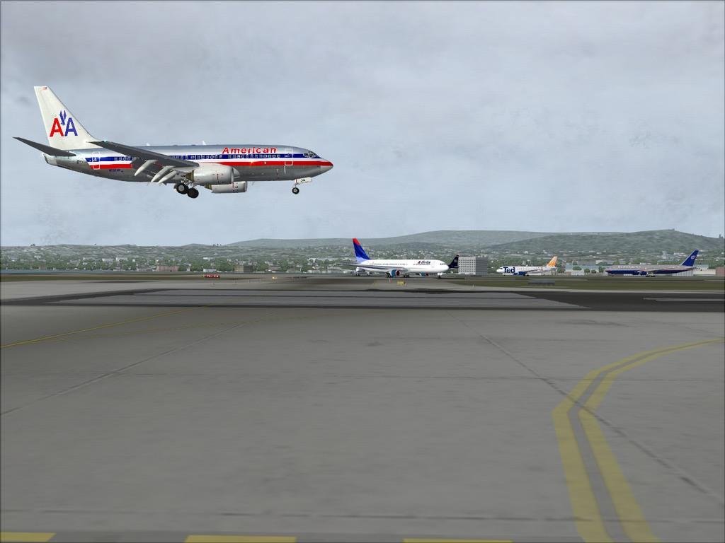 [FS9] Pouso em KSFO com AA 737-700 PMDG Americ12